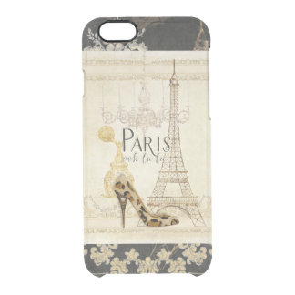 Paris ooh la la Fashion Eiffel Tower Chandelier Clear iPhone 6/6S Case