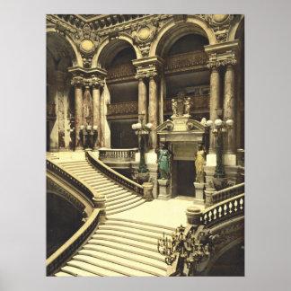Paris Opera House Grand Saircase Poster