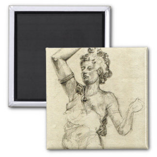 "Paris Opera Sculpture Sketch Magnet - 2"" x 2"""