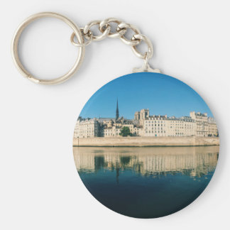 Paris Panorama - Ile Saint Louis Basic Round Button Keychain