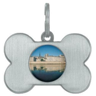 Paris Panorama - Ile Saint Louis Pet ID Tag