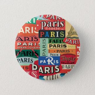 Paris Paris 2 Inch Round Button