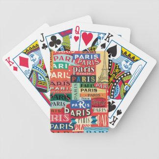 Paris Paris Bicycle Playing Cards