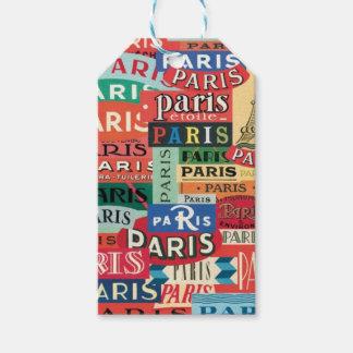 Paris Paris Pack Of Gift Tags