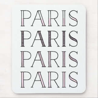 Paris Paris Paris | Blush Pink French Inspired Mouse Pad