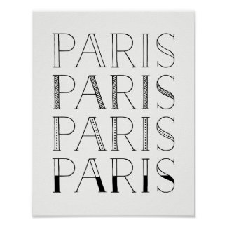 Paris Paris Paris | Elegant French Inspired Poster