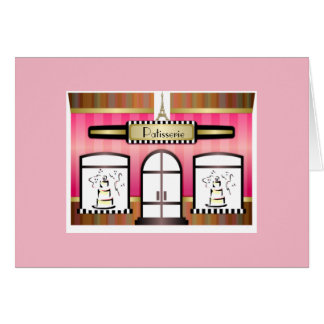 Paris Patisserie French Theme Birthday Card