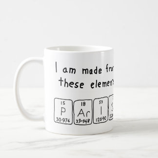 Paris periodic table name mug