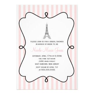 Paris Pink Eiffel Tower Bridal Shower Cards