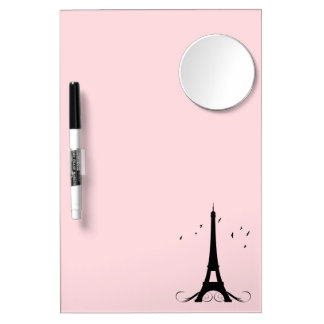 Paris Pink Eiffel Tower Dry-Erase Whiteboards