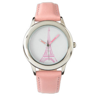Paris Pink Eiffel Tower Watch