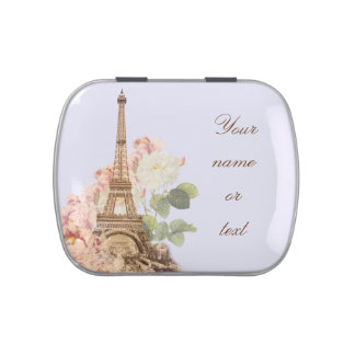 Paris Pink Rose Vintage Romantic Candy Tin
