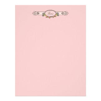 Paris Pink Roses Vintage Style Letterhead