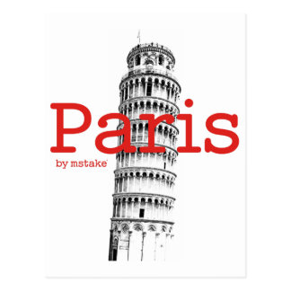 Paris & Pisa mstake Postcard