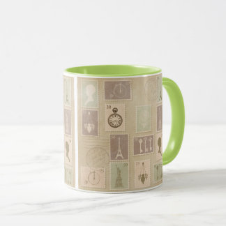 Paris Postage Stamp Coffee Cup