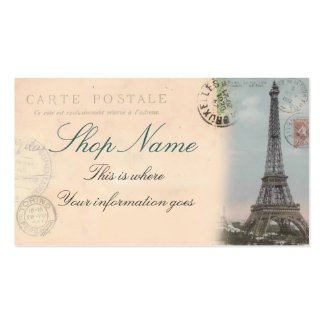 Paris Postcard Business Card