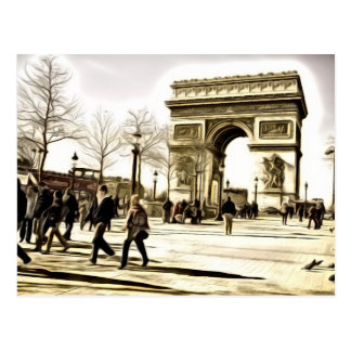 Paris Postcards - Triumph Arch