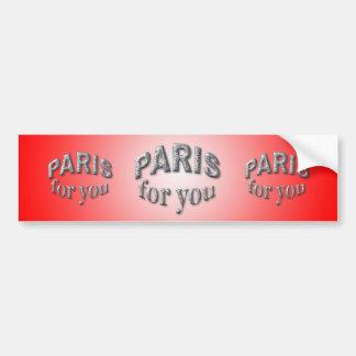 Paris pour vous adhésif pour voiture