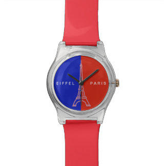 Paris red blue France Wrist Watch