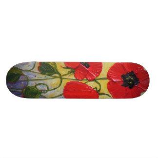 Paris Red Poppies Skateboard