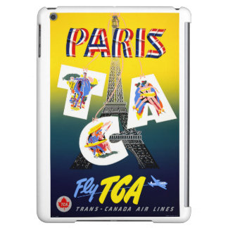 Paris Restored Vintage Travel Poster iPad Air Cover