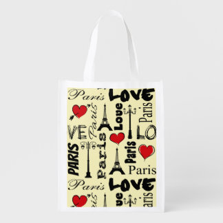 Paris Reusable Grocery Bag