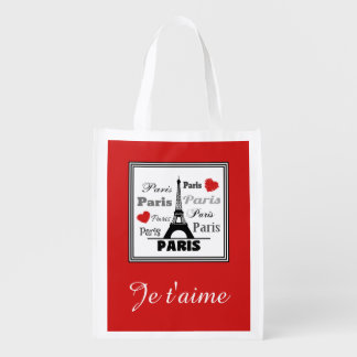 Paris Reusable Grocery Bag