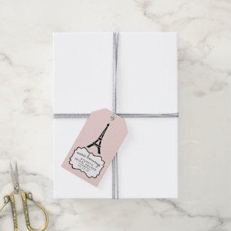 Paris Romance Bridal Shower Thank You Gift Tags