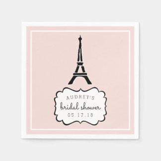 Paris Romance | Eiffel Tower Bridal Shower Disposable Napkins