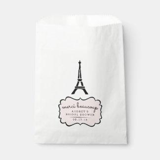 Paris Romance Eiffel Tower Bridal Shower Favour Bag