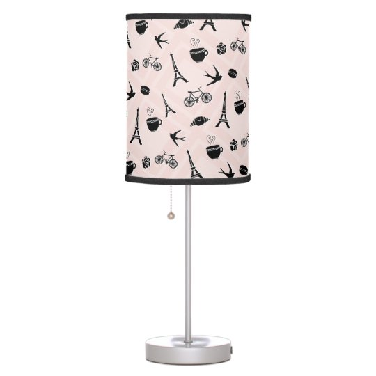 Paris Romance Patterned Table Lamp
