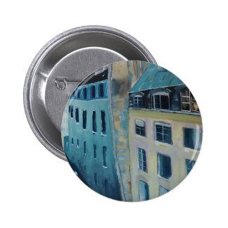 Paris Roofs 2 Inch Round Button