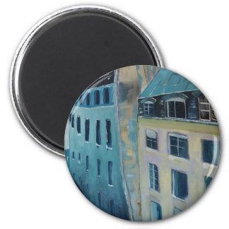 Paris Roofs 2 Inch Round Magnet