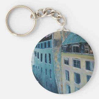 Paris Roofs Basic Round Button Keychain