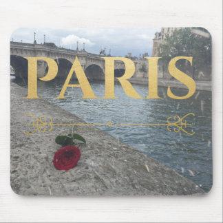 paris roses mouse pad