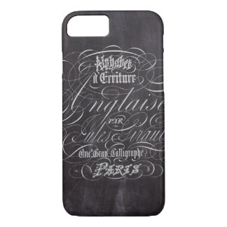Paris rustic country chalkboard French Scripts iPhone 8/7 Case
