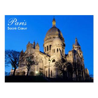 Paris - Sacré Cœur at night postcard
