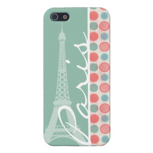 Paris; Salmon, Coral Pink, & Seafoam Covers For iPhone 5