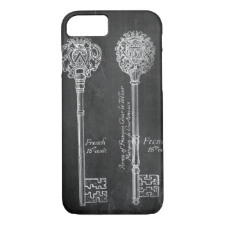 paris scripts chic vintage keys chalkboard iPhone 8/7 case