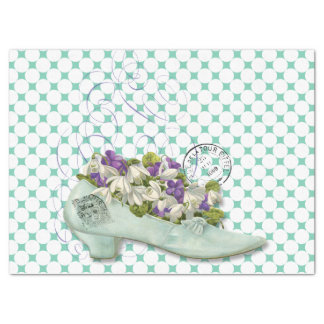 Paris shoe floral elegant woman's tissue paper
