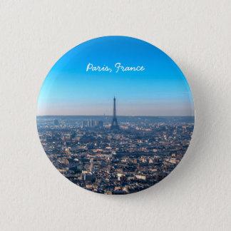 Paris Skyline 2 Inch Round Button