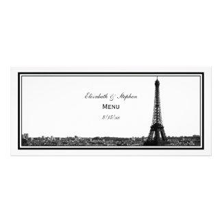 Paris Skyline Etched Framed H Menu Card Rack Card Template