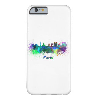 Paris skyline in watercolor barely there iPhone 6 case