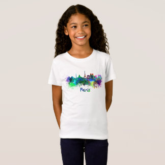 Paris skyline in watercolor T-Shirt