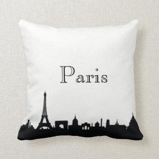 Paris Skyline Silhouette Front/ Xray Back Throw Pillow