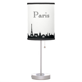 Paris Skyline Silhouette Table Lamp