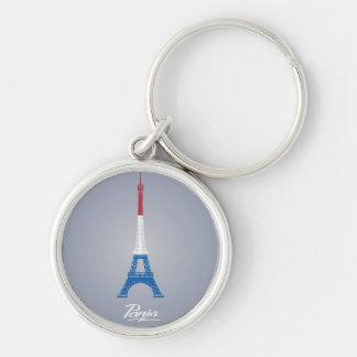 "Paris Small (1.44"") Premium Round Keychain"