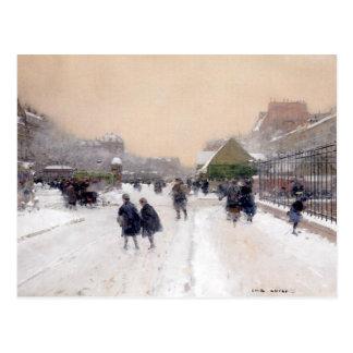 Paris sous la neige ~ Paris under snow Postcard