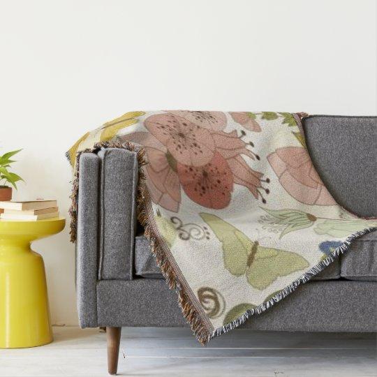 """""""Paris-Spring +Butterflies-Blanket"""""""" Throw Blanket"""