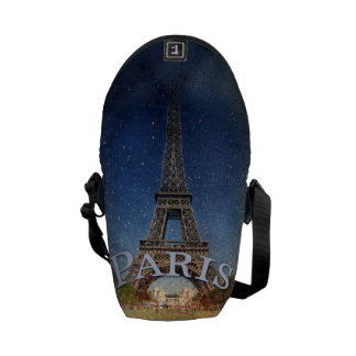 Paris Starry Night Eiffel Tower Commuter Bag